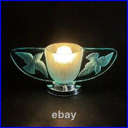 Traumhafte ART DECO Tischlampe Pressglas Lampe table lamp