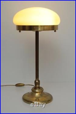 Unikate Art Deco Bauhaus Tischlampe Berlin Messinglampe Tischleuchte Pilzlampe
