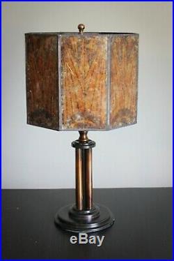 Unique Mid 1920s Art Deco Black Art Pipe Lamp