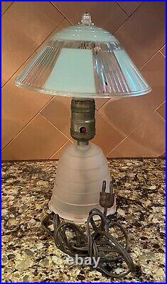 Unique Mid Century Modern Art Deco Leviton Table Lamp