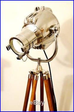 VINTAGE THEATRE LIGHT ANTIQUE FLOOR FILM STUDIO LAMP EAMES KARTELL ART DECO 50s