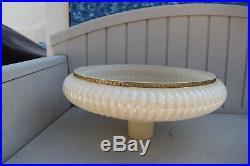 VINTAGE TORCHIERE ART DECO FLUTE EMBOSSED GLASS LAMP SHADE 16 Diameter GLOBE
