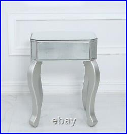 Venice Mirrored champagne silver glass lamp table height 70cm