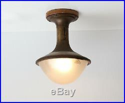 Very rare Goerz Berlin ceiling lamp design 1930 Bauhaus, Art deco, Zeiss Ikon