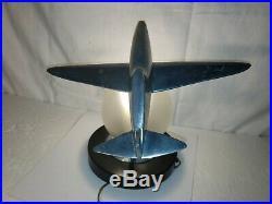 Vintage 1986 Sarsaparilla Art Deco Airplane Table Lamp Rare