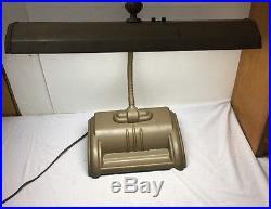 Vintage ACME Art Deco Metal Industrial Gooseneck Drafting Desk Lamp WORKS