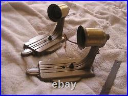 Vintage Antique Art Deco Pair Sconces G. L. F. MFG Co. Lot 2