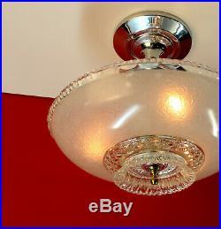 Vintage Antique art Deco Ceiling Light Lamp Fixture Chandelier
