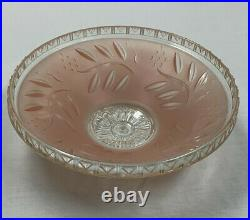 Vintage Art Deco Ceiling Light Fixture Cover Lamp Shade Pink Glass 12