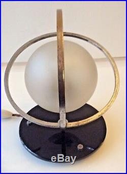 Vintage Art Deco Chrome Saturn Table Lamp Light
