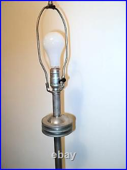Vintage Art Deco Floor Mushroom Lamp Chrome Made In USA