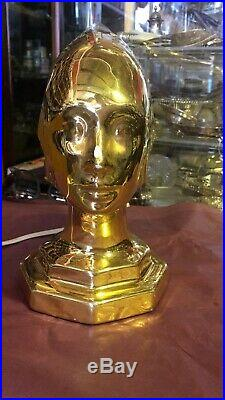 Vintage Art Deco Gold Lamp