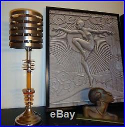 Vintage Art Deco Machine Age Saturn Bakelite Lamp c, 1925