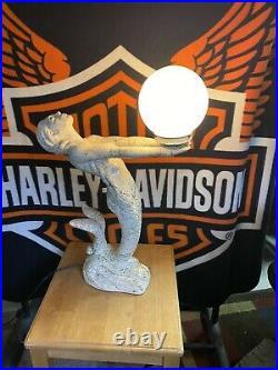 Vintage Art Deco Mermaid Lamp