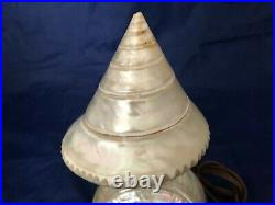 Vintage Art Deco Nouveau Nautilus Seashell Sea Shell Figural Lamp