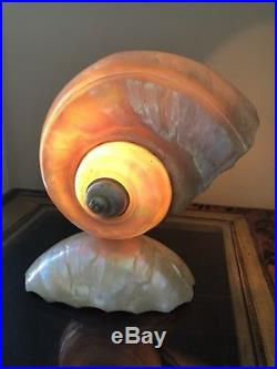 Vintage Art Deco Nouveau Nautilus Seashell Sea Shell Figural Lamp A5