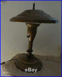 Vintage Art Deco Saucer MID Century Modern Table Lamp