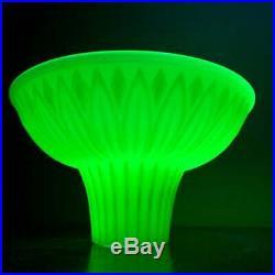 Vintage Art Deco Torchiere Style Custard Glass Lamp Shade Vaseline Glass Shade