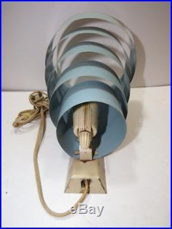 Vintage Art Deco Wall Sconce ORB RINGS Metal Sputnik light lamp Saturn
