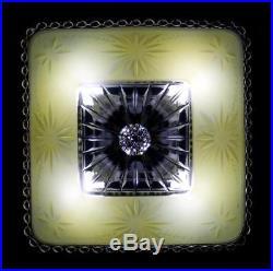 Vintage Art Deco Yellow Starburst Shade Ceiling Lamp Light Fixture Chandelier
