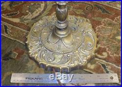 Vintage Art Deco bridge floor lamp'brass' stamped & cast iron antique RMC 452