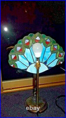 Vintage Art Deco style Tiffany Table Lamp widdop and bingham