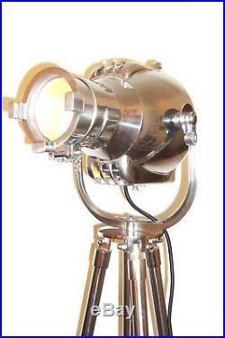 Vintage Bbc Tv Studio Light Antique Art Deco Industrial Floor Lamp Strand 23 60s