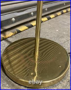 Vintage Boho/mid Century Art Deco Brass Clam Shell Floor Lamp