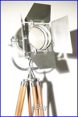 Vintage British Strand Theatre Lamp Antique Art Deco Strand Film Light Tripod