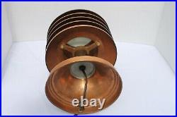 Vintage Coulter Louvered Copper Lamp Art Deco Canada Machine Age Modernism