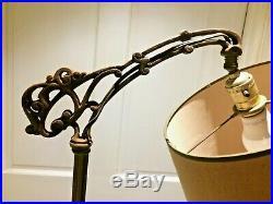 Vintage''EXPERT'' Art Deco Cast iron Bridge Lamp Floor Lamp 56