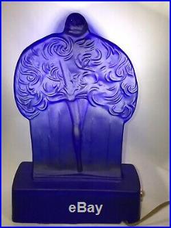 Vintage Frankart Sally Rand Glass Nude Nymph Art Deco Lamp