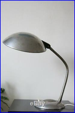 Vintage Industrial Art Deco UFO Saucer Desk Lamp by ERPE Belgium