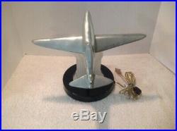 Vintage Mid-Century Sarsaparilla Art Deco Airplane Table Lamp RARE