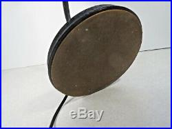 Vintage Saucer mid century modern Desk Lamp Table crinkle finish art deco