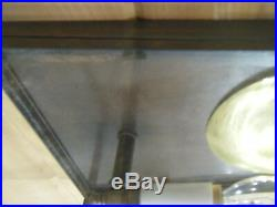 `Vintage Solid Antique Copper Lamp Light Fixture Sconce Art deco Patina Soldered