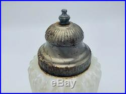 Vintage White Iridescent Glass Light Cover Outdoor Lamp Shade Shade Art Deco