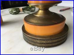 Vintage XL Butterscotch Amber Catalin BAKELITE Lamp c. 1930s Art Deco