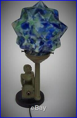 Vintage art deco art deco Maiden lamp / Frankart Nuart era / Late 1920's