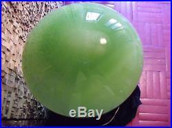Vintage art deco table lamp with bead. Green opaline globe! Original