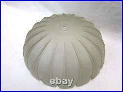 Vtg Art Deco Frosted Glass LAMP SHADE for Hanging Pendant Semi Flush Ceiling 15