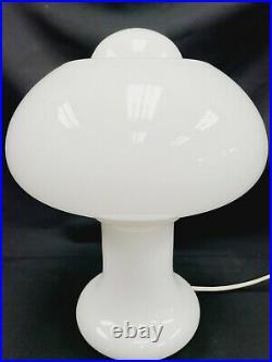 Vtg Art Deco Peill & Putzler Glass Mushroom Table Lamp Mid Century Modern MCM