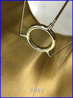 Vtg Victorian Art Deco Lamp Shade Burgundy Red Gold Black Boho 15 Bell Slip Uno