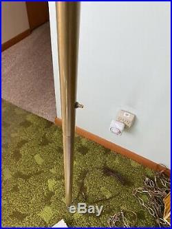 Vtg mid century Tension Pole Floor Lamp Light Flower Swag 1970s Modern Art Deco