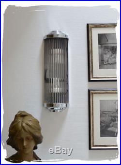 Wandlampe Art Deco Nachbau Wandleuchte Metropolis Kinolampe Glasstäbe