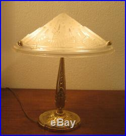Wonderful French Art Deco Table Lamp 1925 By C. Ranc / Muller Frères Luneville