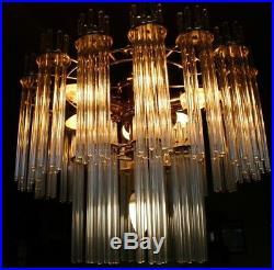 XL 208 Rods 2 Layers Chandelier Kronleuchter Deckenlampe Sciolari Art Deco Style