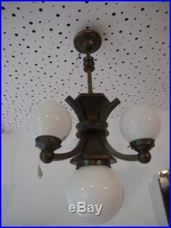 1x alte Lampenfassung E27 Messing Art Deco Lampe Bauhaus design vintage