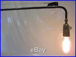 XXL Lampe 95cm Art Deco Stil Industrie Design Wandlampe Schwenkbarer Ausleger