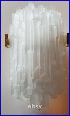 Xl Ice Glass Art Deco Murano Stil Wall light Lamp Wandlampe sconces Eisglas